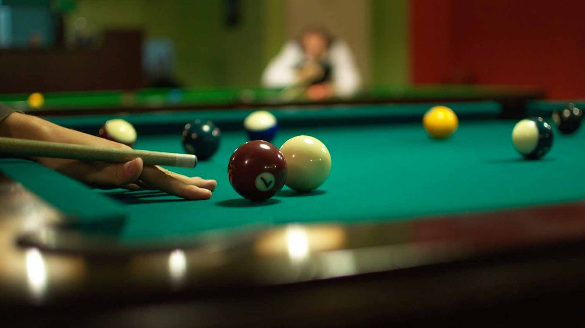 IMG Play billiards whilst staying at Marritz Hotel and Salzburg Apartments