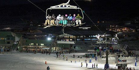 Night Skiing and Boarding